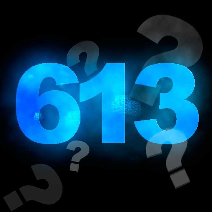 Ao se falar das 613 mitsvot sempre se menciona seu número:. Por quê? Existe algo especial relacionado com este número?